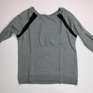 Forever 21 || Grey Sweatshirt Black Mesh Small